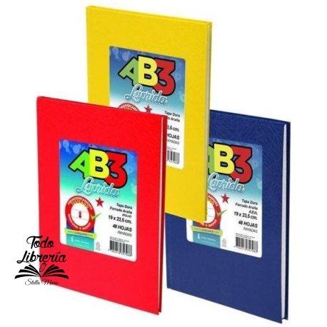 Cuaderno 19 x 23,5 Laprida ab3 araña  50 hojas rayado cosido tapa dura