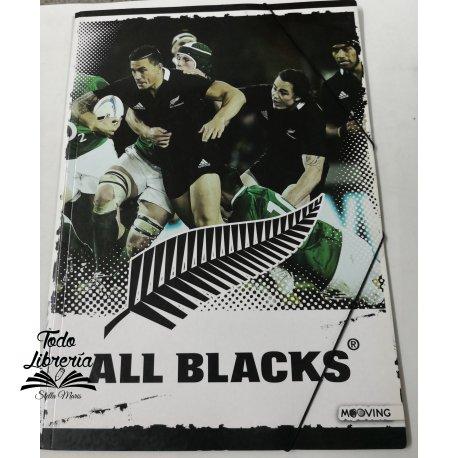 Carpeta 3 solapas con elástico ALL BLACK