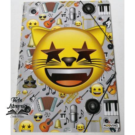 Carpeta 3 solapas con elástico Emoji