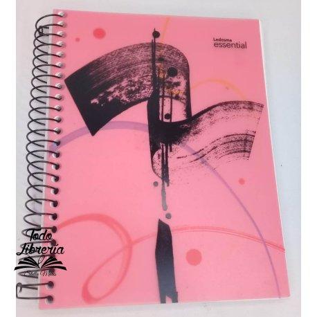 Cuaderno 16 x 21 Ledesma essencial tipo pvc 120 hojas rayado/ cuadriculado  espiral