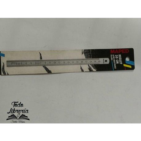 Regla metálica MAPED acero inoxidable Flexible  20 cm