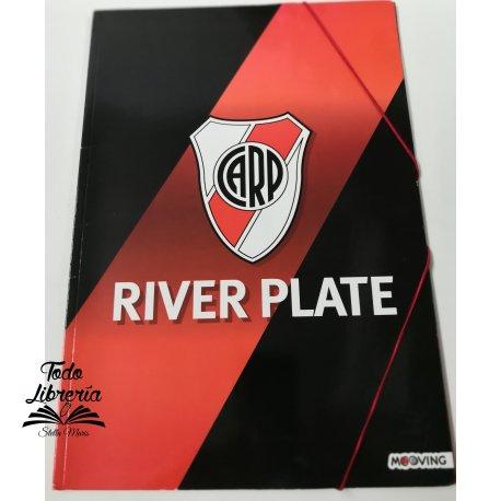 Carpeta 3 solapas con elástico River Plate