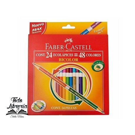 Lápices Faber Castell   24 unidades x 48 Colores (estuche cartón)