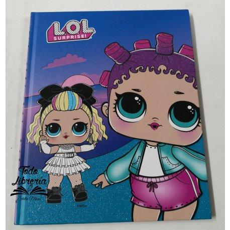 Cuaderno 19,5 x 24 LOL Surprise! tapa dura 48 hojas cocido