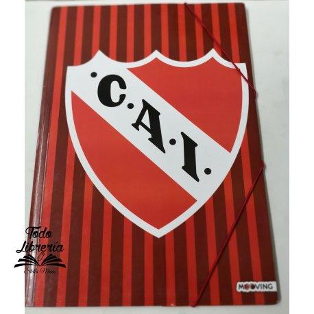 Carpeta 3 solapas con elástico Independiente