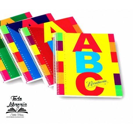 Cuaderno ABC  21 x 27 Rivadavia 100 hojas cuadriculado espiral tapa dura
