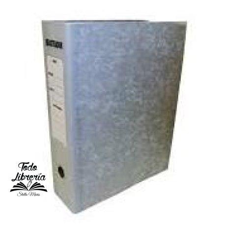 Bibliorato gris lomo tela A4 palanca niquelada