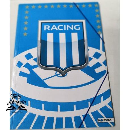 Carpeta 3 solapas con elástico Racing
