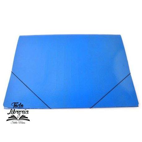 Carpeta plastificada doble oficio color 3 solapas con elástico COLOR