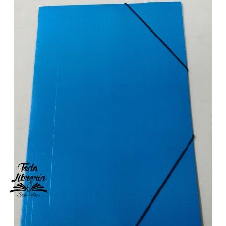 Carpeta plastificada oficio 3 solapas con elástico COLOR