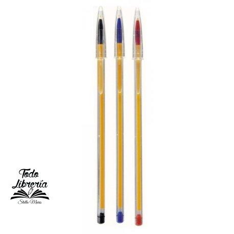 Bolígrafo Bic cristal ultra fina 0,7 mm Azul, Negro, Rojo