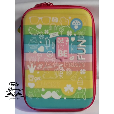 Canopla con relieve LET IT BE FUN