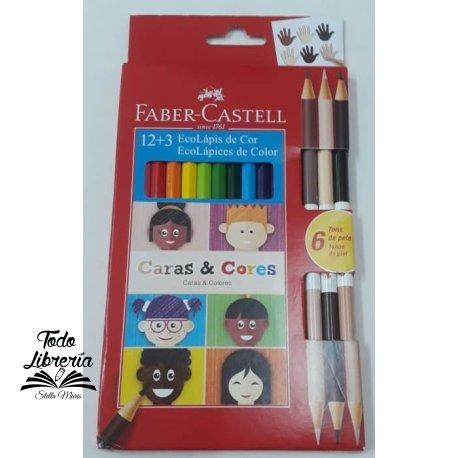 Pinturitas Faber-Castell caras y colores x 12  largas
