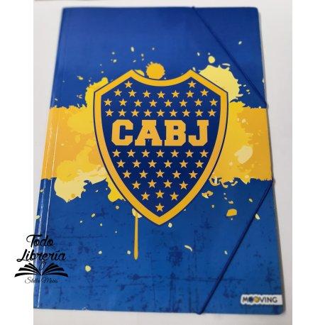 Carpeta 3 solapas con elástico Boca Juniors