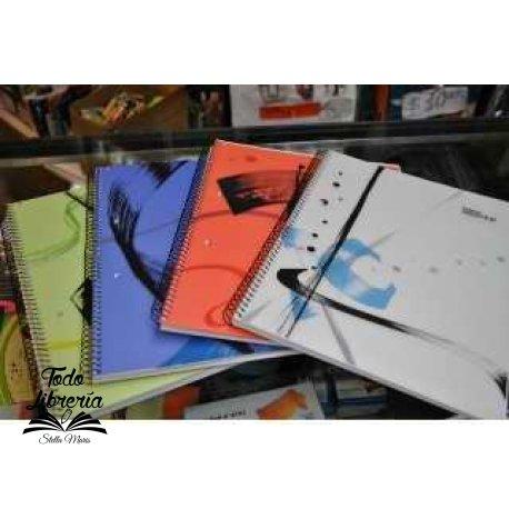Cuaderno 29,7 Ledesma essential tipo pvc 84 hojas cuadriculado/rayado espiral