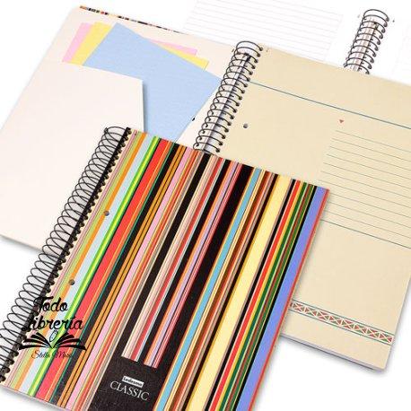 Cuaderno 29,7 Ledesma classic tapa dura 84 hojas rayado /cuadriculado espiral