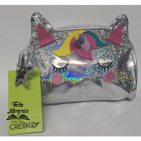 Cartuchera 3D simple Cresko unicornio