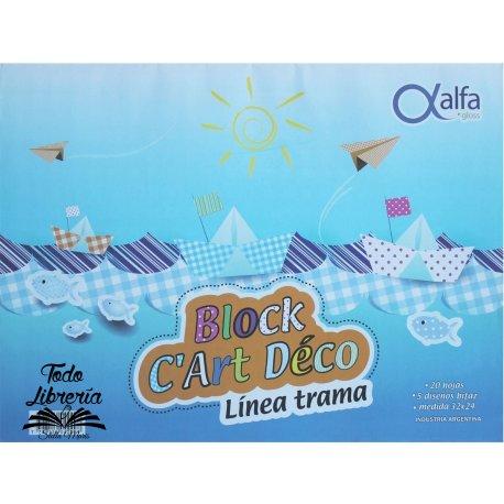 Block C´Art Déco Alfa trama, 20 hojas, 5 diseños medida 32 x 24