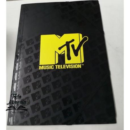 Carpeta 3 solapas con elástico MTV