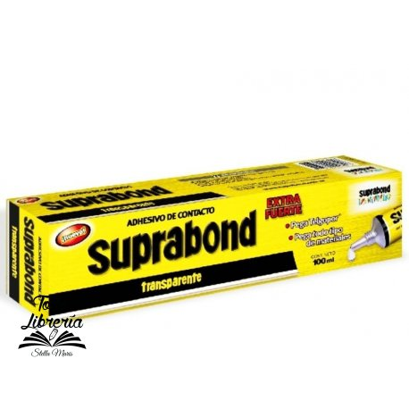 Suprabond adhesivo contacto x 100 ml en caja transparente extra fuerte