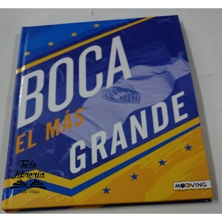 Cuaderno 19,5 x 24 Boca jrs, tapa dura 48 hojas cocido