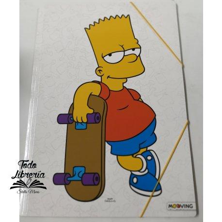 Carpeta 3 sol, c/elast, Simpsons