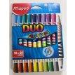 Marcador Maped duo color´peps x 10 un= 20 colores